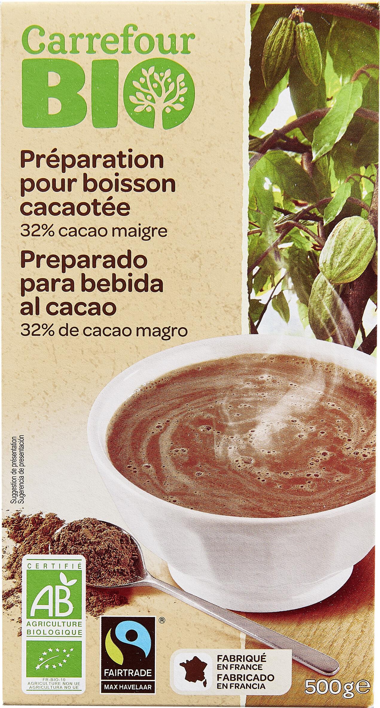Préparation pour boisson cacaotée 32% de cacao maigre - Product - fr