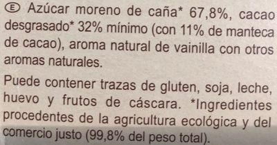 Préparation pour boisson cacaotée 32% de cacao maigre - Ingredientes