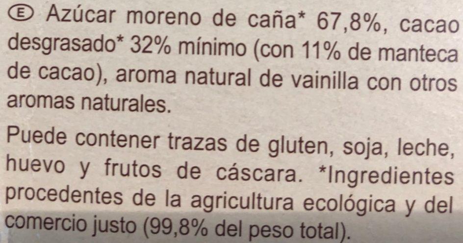 Préparation pour boisson cacaotée 32% de cacao maigre - Ingredientes - es