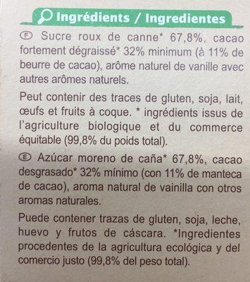 Préparation pour boisson cacaotée 32% de cacao maigre - Ingrediënten
