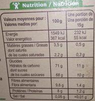 Préparation pour boisson cacaotée 32% de cacao maigre - Información nutricional