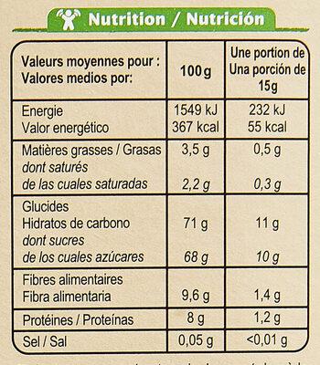 Préparation pour boisson cacaotée 32% de cacao maigre - Informació nutricional - fr