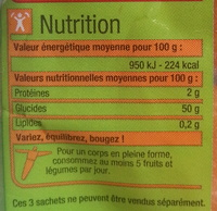 Abricots moelleux - Nutrition facts - fr