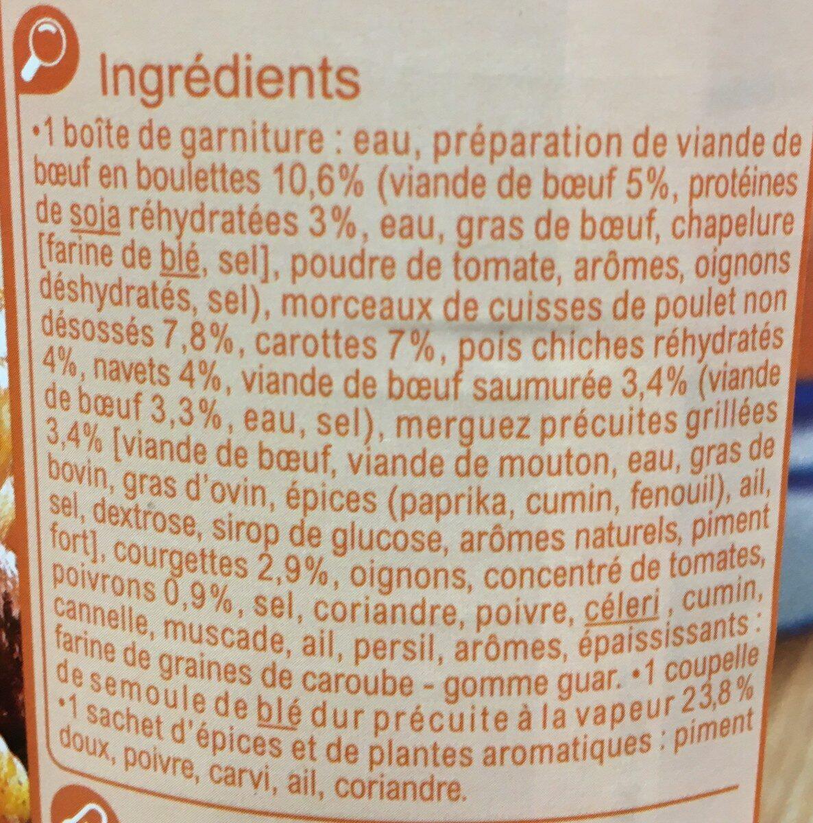 Couscous royal 1050g - Ingredients