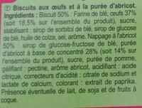 Barquettes abricots par lot de 2 - Ingredients - fr