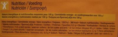 Chocolat en poudre Intense - Informations nutritionnelles - fr