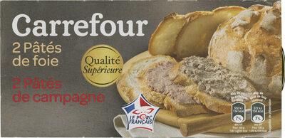 SUR CLUSTER 2 Pâtés de foie 2 Pâtés de campagne SUR BOITE IMPRIMÉE Pâté de foie OU Pâté de campagne - Product - fr