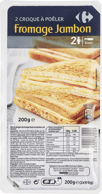 2 croque a poeler fromage jambon - Product