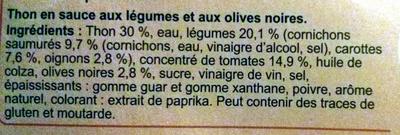 Mélange au thon et petits légumes à la catalane - Ingrédients - fr