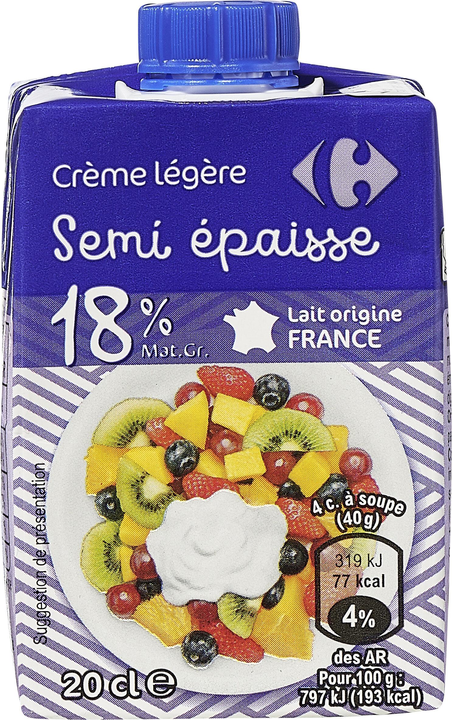 Crème légère semi-épaisse. - Produit - fr