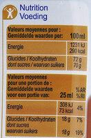 Sirop Thé Pêche - Voedingswaarden - fr