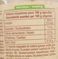 Coeurs de palmiers sauvages bio - Nutrition facts - fr