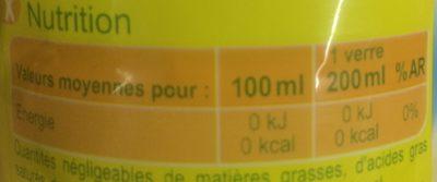 Eau minérale naturelle aromatisé citron - Nutrition facts - fr