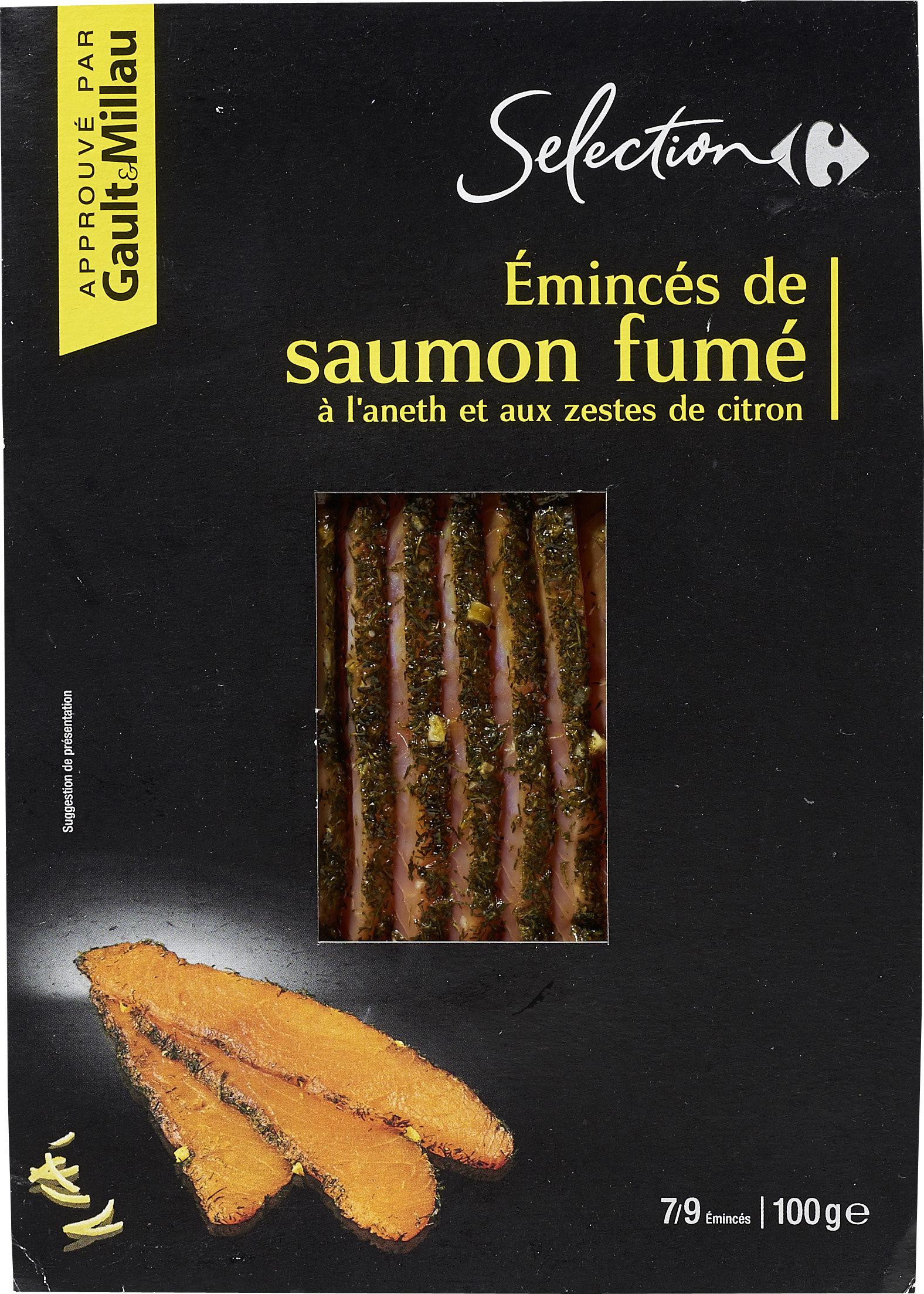 Émincés de saumon fumé à l'aneth et aux zestes de citron - Produit - fr