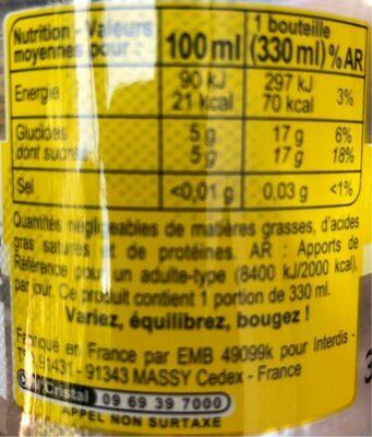 Fresh Tonic - Informations nutritionnelles - fr
