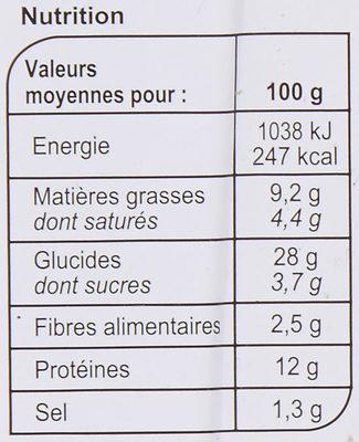 La Pizza 3 Fromages - Voedingswaarden