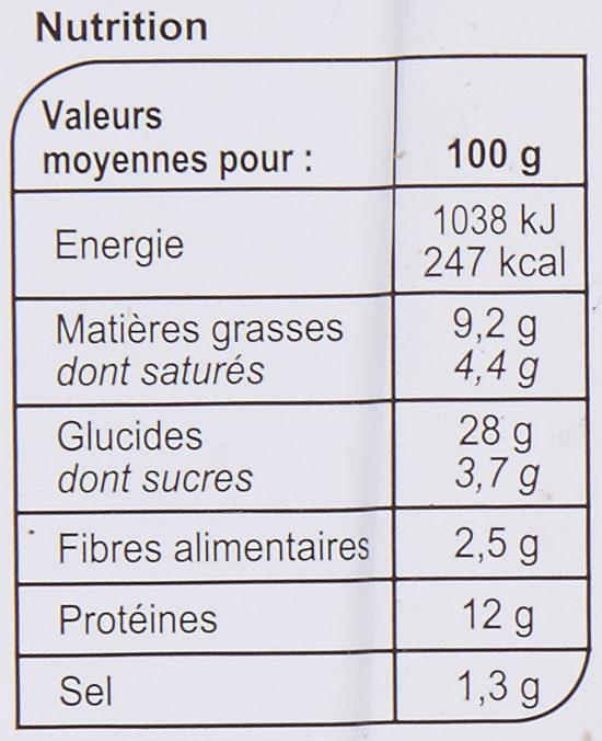 La Pizza 3 Fromages - Informations nutritionnelles - fr