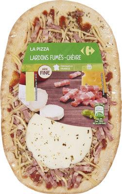 La pizza lardons fumés chèvre - Produit - fr