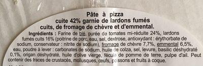 La pizza lardons fumés chèvre - Ingrédients - fr