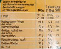 La pizza lardons fumés chèvre - Informations nutritionnelles - fr