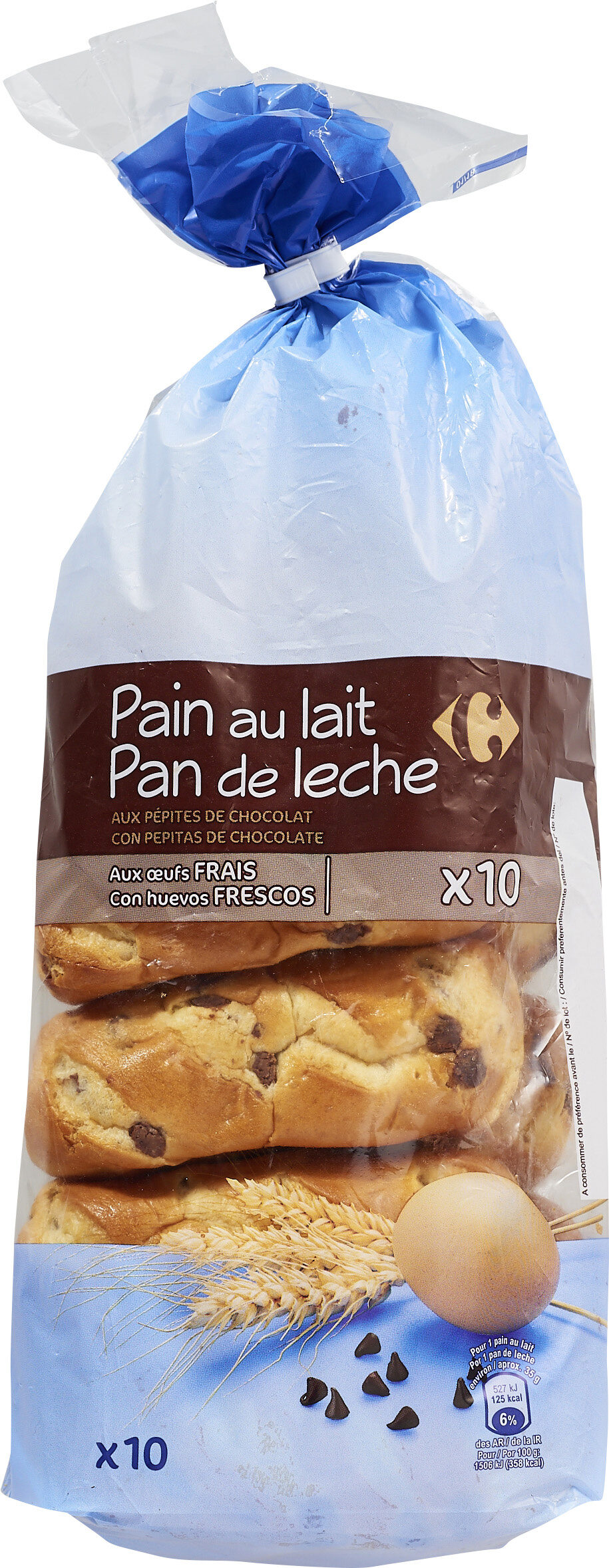 Pain au lait aux pépites de chocolat - Product - fr