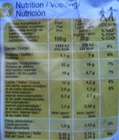Pain au lait aux pépites de chocolat - Valori nutrizionali - fr