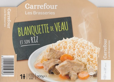 blanquette de veau et son riz carrefour 300 g 1 personne. Black Bedroom Furniture Sets. Home Design Ideas
