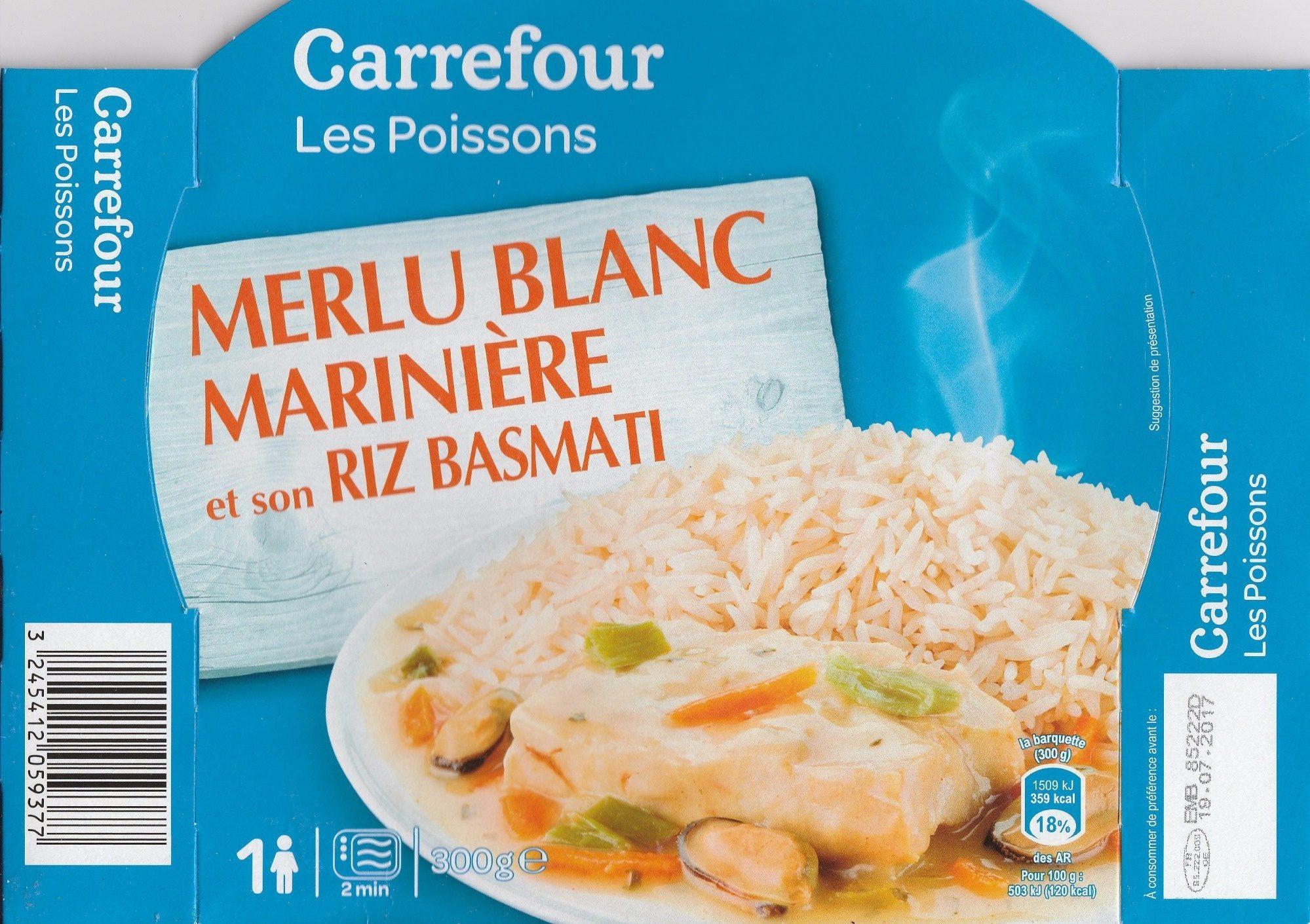 Merlu blanc marini re et son riz basmati carrefour 300 g - Balance de cuisine carrefour ...