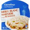 Merlu blanc marinière et son riz basmati - Produit