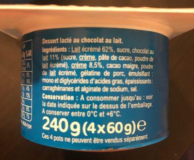 Mousse chocolat - Ingrediënten