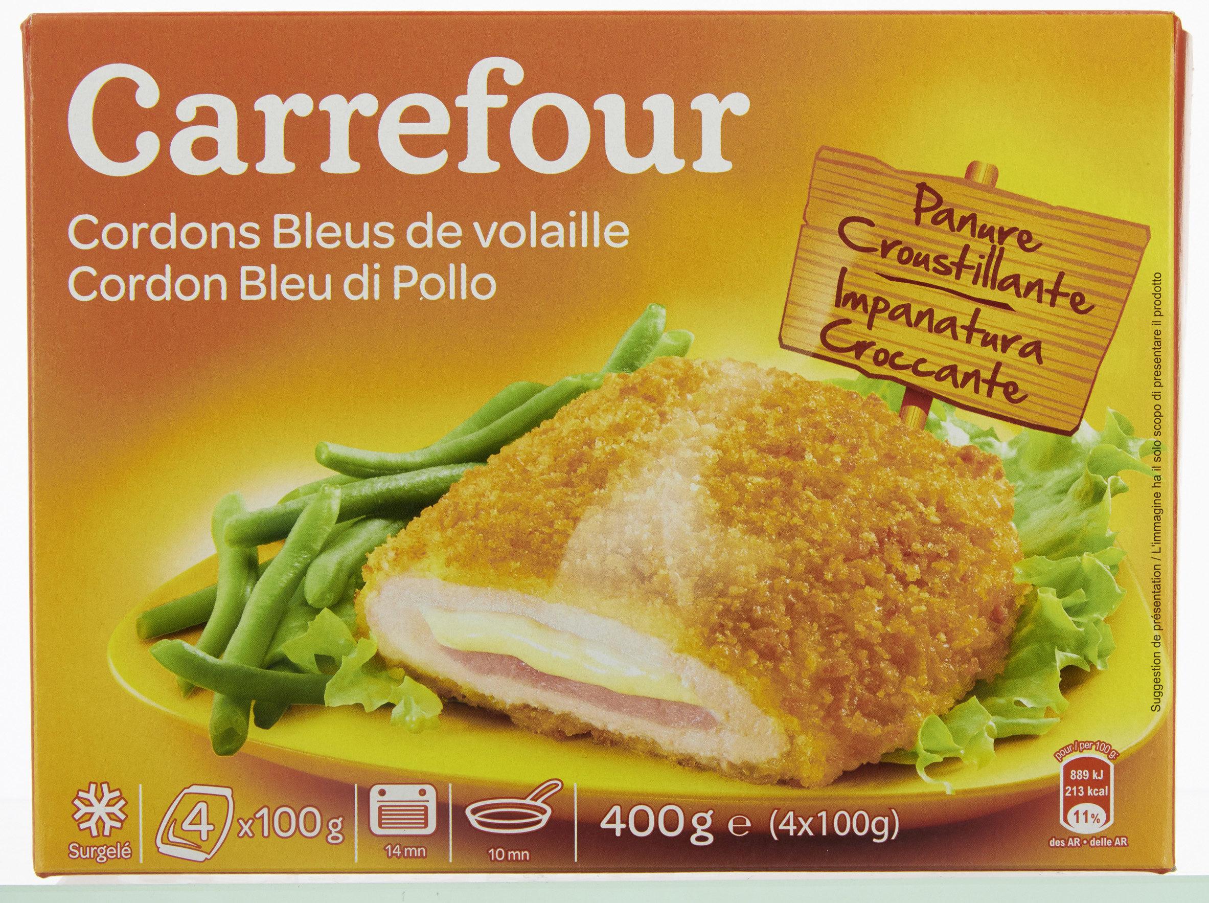 Cordon Bleu De Poulet Carrefour 400 G 4 X 100 G