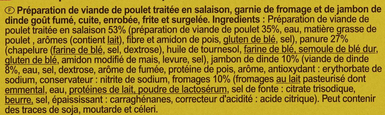 Cordon bleu de poulet - Ingrédients - fr