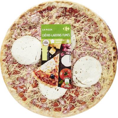 Carrefour La pizza chèvre - lardons fumés - Produit