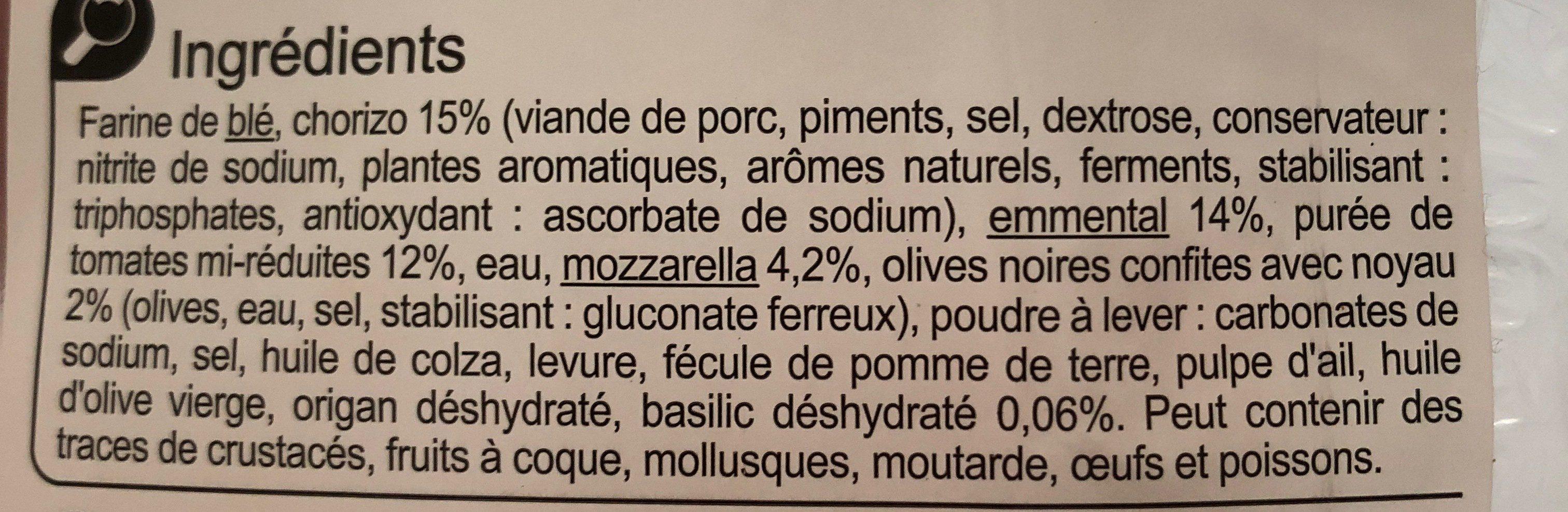 La Pizza Jambon Fromage - Ingrédients