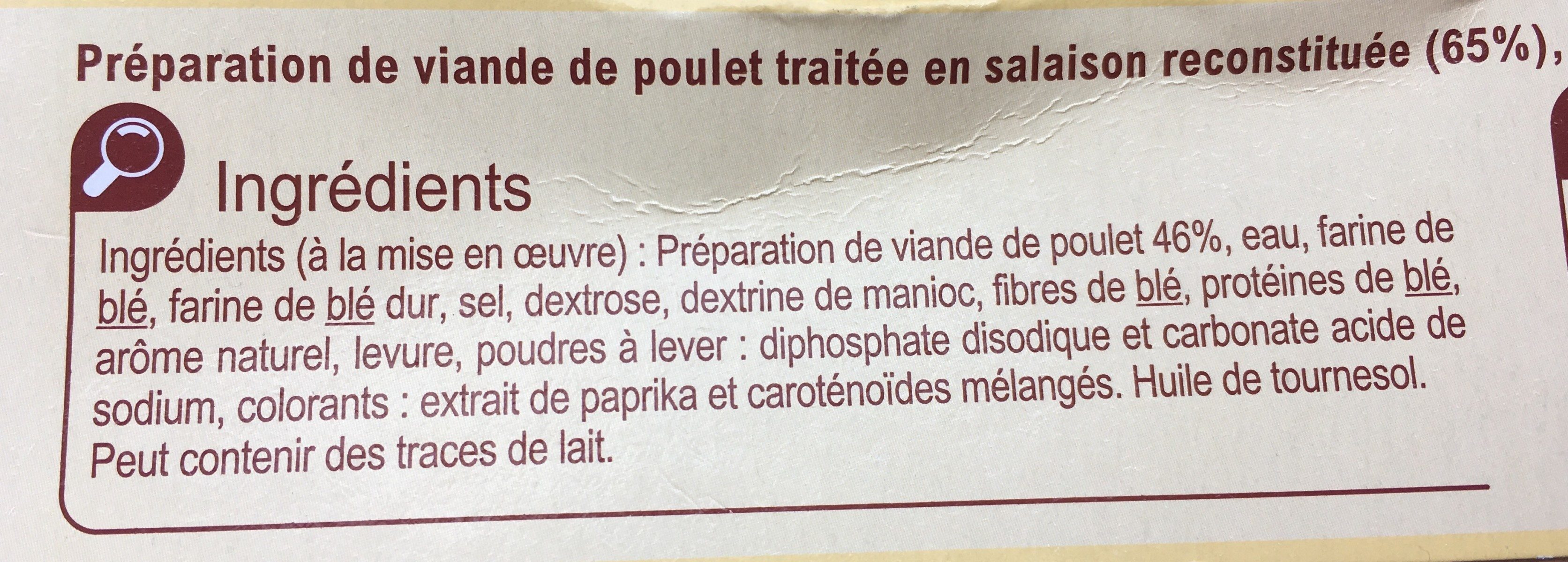 Nuggets de Poulet - Ingrediënten