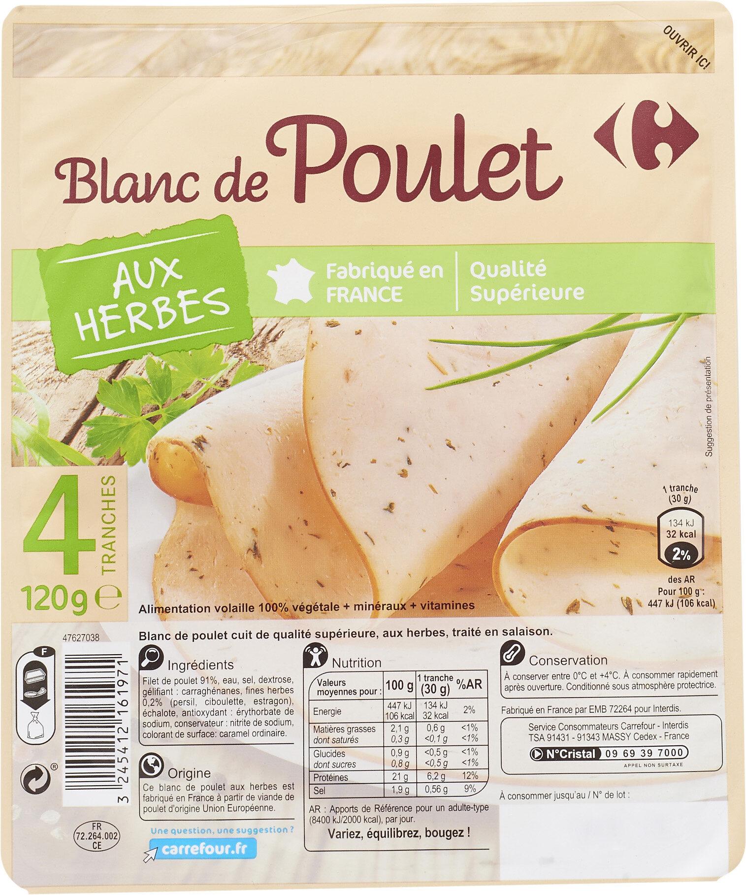 Blanc de poulet aux herbes - Produit - fr