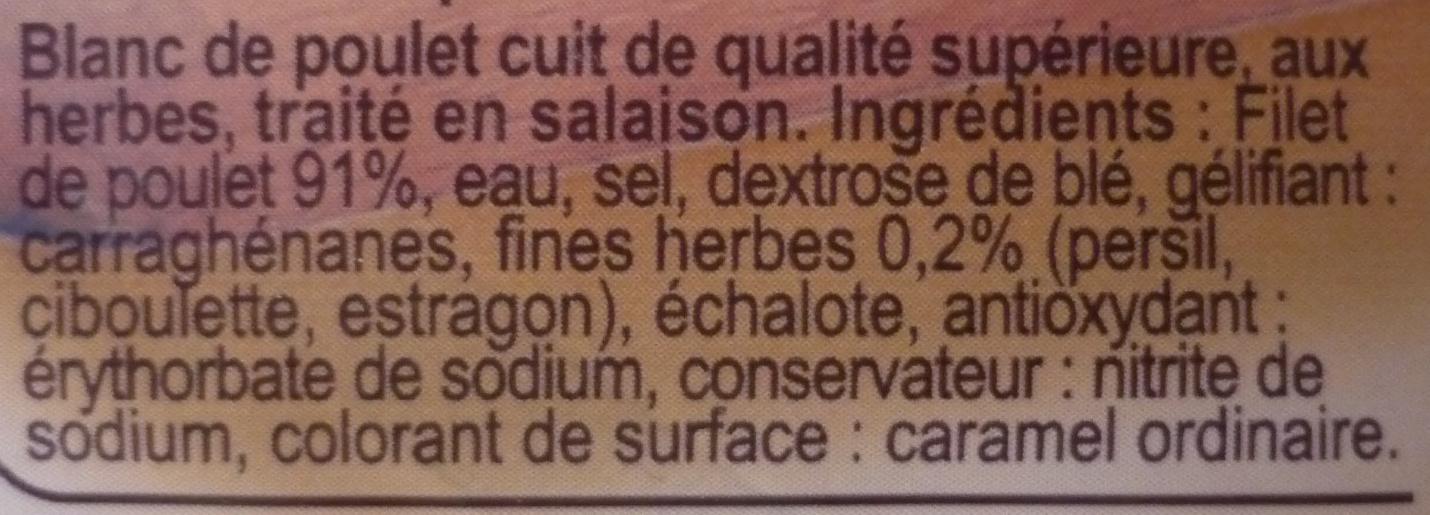 Blanc de poulet aux herbes - Ingrédients - fr