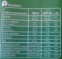 Boisson au Soja chocolat - Nutrition facts - fr