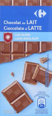 Chocolat Au Lait Du Pays Alpin - Produit - fr