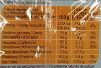 Chocolat Au Lait Du Pays Alpin - Nutrition facts - fr