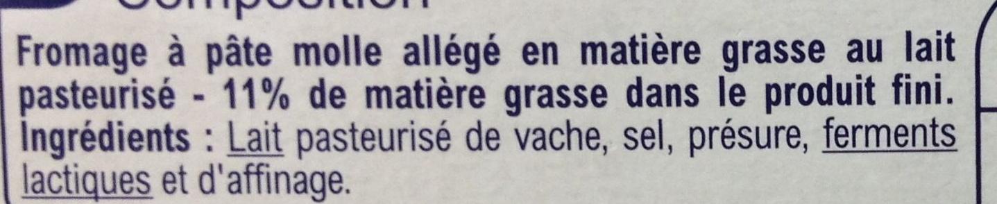 Léger (11 % MG) - Ingredients - fr