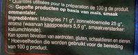Croustillants goût emmental - Ingrediënten - nl