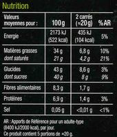 Noirpépitessaveur poire - Informació nutricional - fr