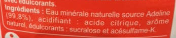 Les aromatisées - Ingredienti - fr