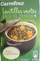 Lentilles vertes - Produit