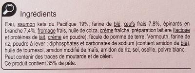 Tarte saumon épinards - Ingrediënten - fr