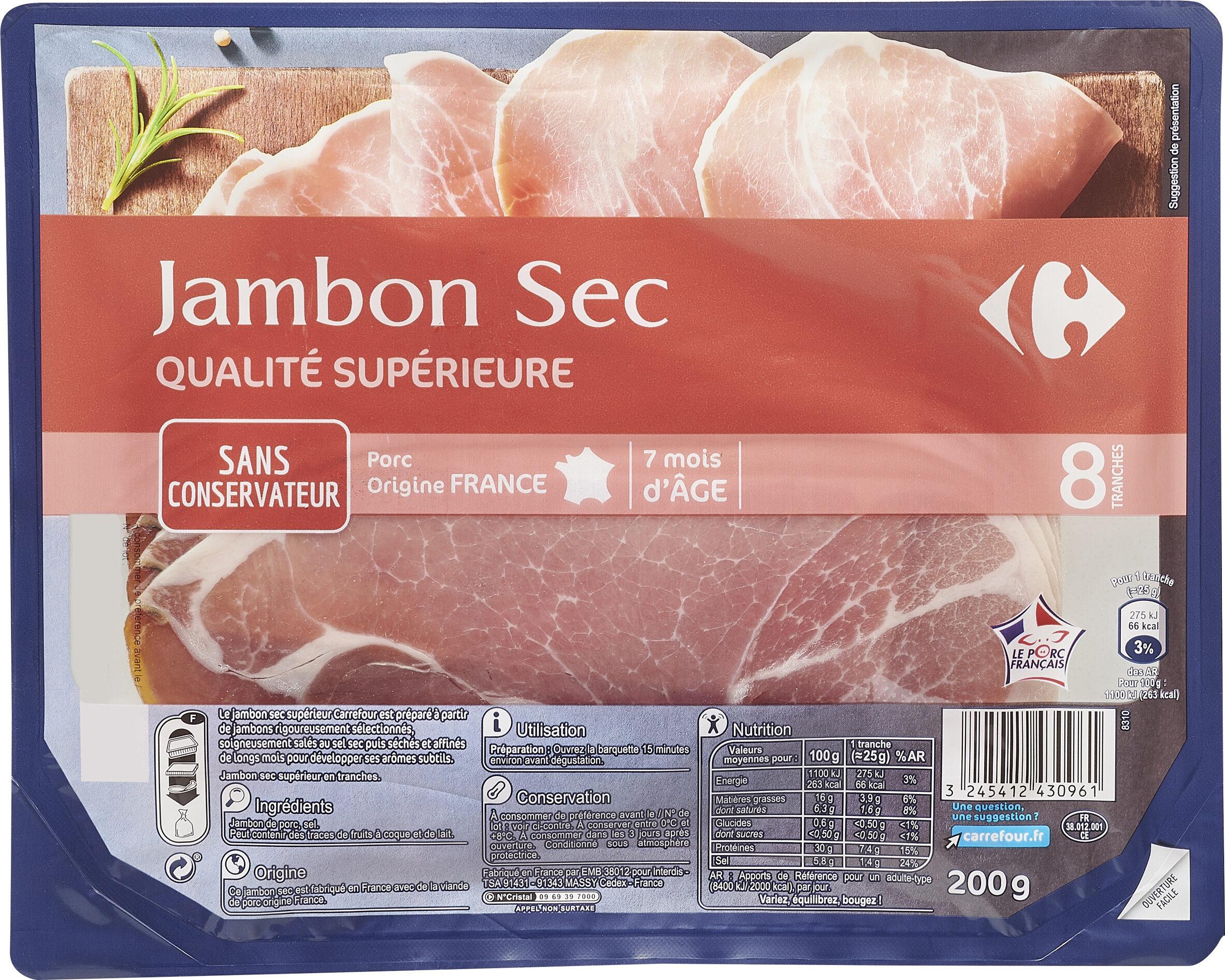 Jambon sec  Qualité supérieure - Prodotto - fr