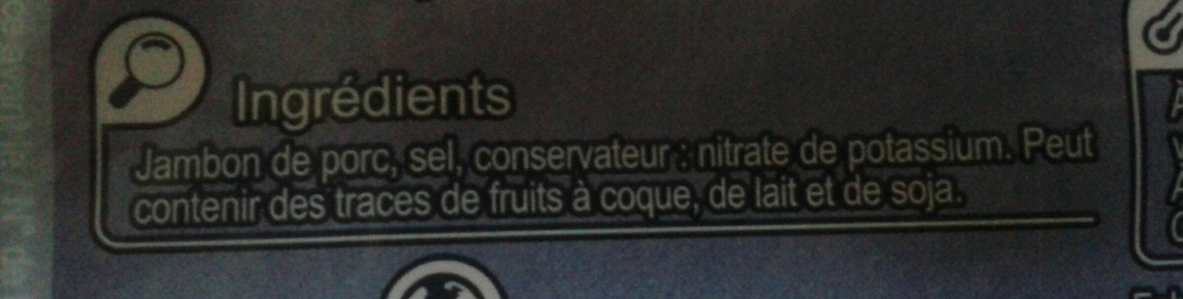 Jambon sec  Qualité supérieure - Ingredienti - fr