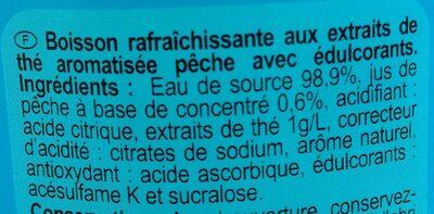 Iced Tea zéro saveur pêche - Ingredienti - fr
