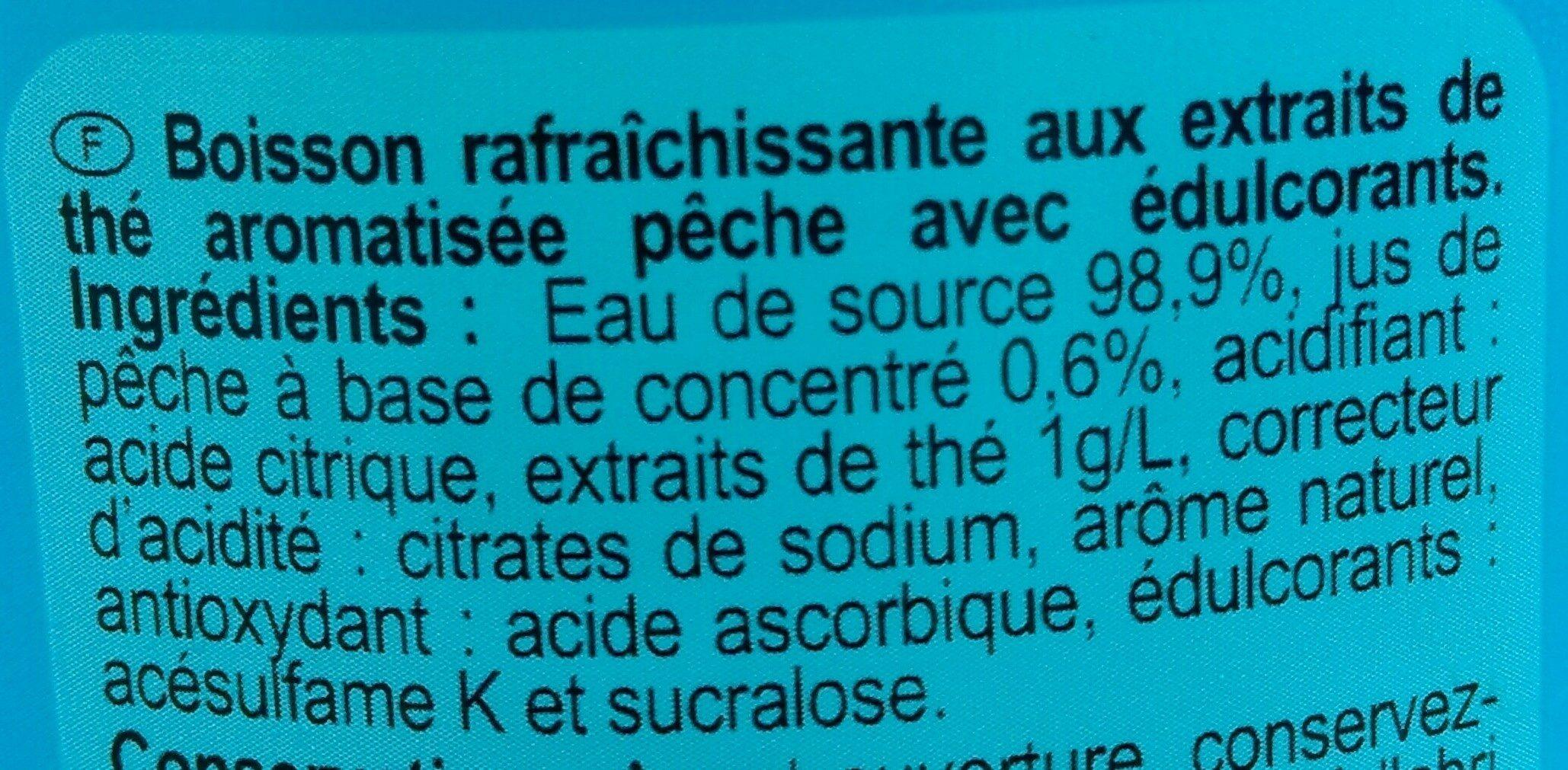 Iced Tea zéro saveur pêche - Ingredients - fr